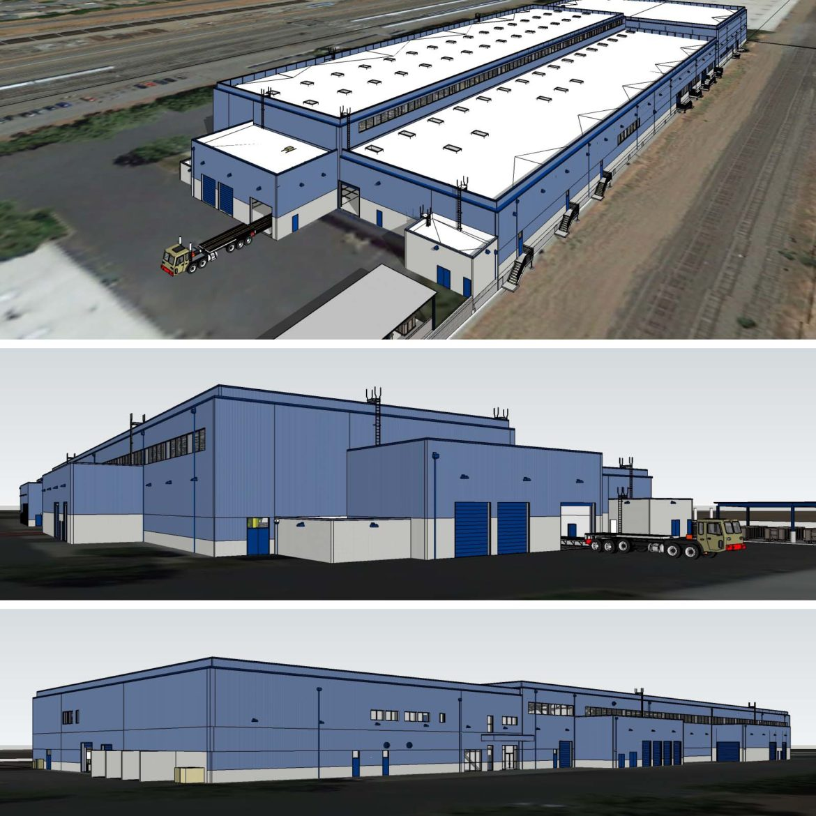 Renderings of BART's new Hayward Maintenance Facility